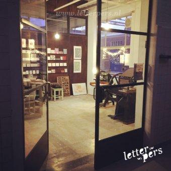 Letterpers studio in Amersfoort