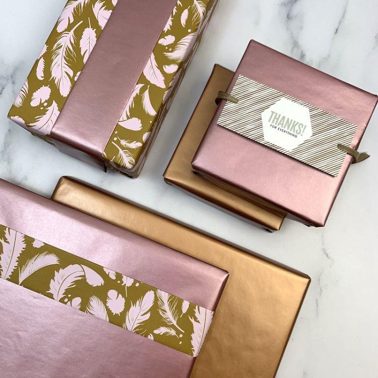 Prachtig cadeaupapier in najaarskleurtjes! 1