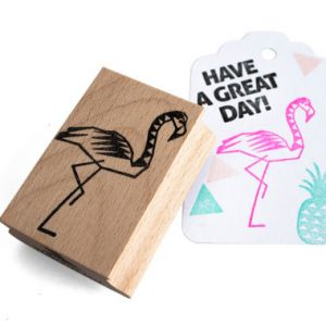 Stempel Flamingo (groot), Miss Honeybird 2