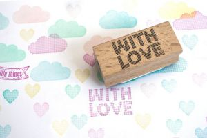 "Stempel ""With Love"" raster Miss Honeybird 2"