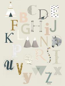 ABC A6 of A5 kaart Minimel