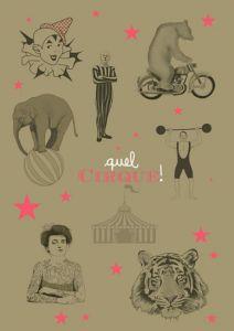 A2 poster circus Minimel 1