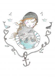 Kaart meisje schat van de zee Marieke ten Berge 2