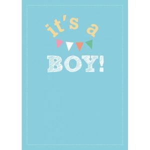 """A6 Kaart """"It's a boy"""" LVP 1"""