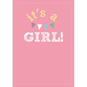 "A6 Kaart ""It's a Girl"" LVP 1"