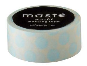 Maskingtape ivoor met lichtblauwe polkadot van Masté