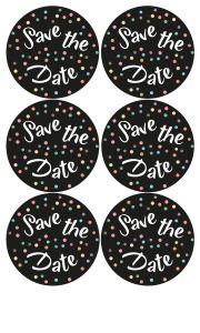 Save the date sluitzegel of sticker 1