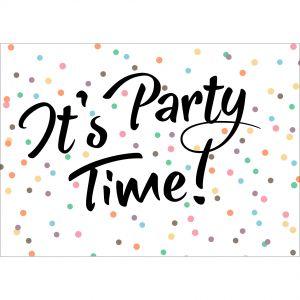 Gepersonaliseerde kaart, Party Time voor jouw, uitnodiging of feestje 1