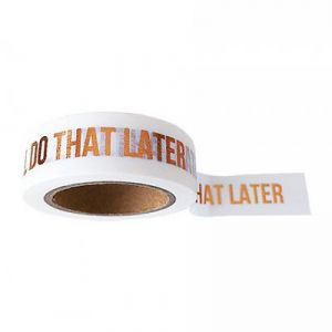 "Maskingtape ""I'll do that later"" Studio Stationery 1"