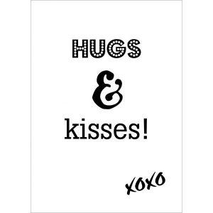 A6 kaart Hugs & Kisses LVP 1