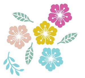 Mini stempel detail bloem Miss Honeybird 4