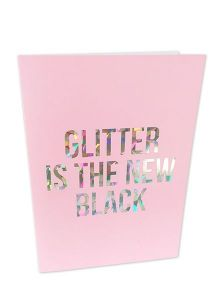 Glitter is the new black kerstkaart Studio Stationery 1