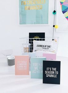 Glitter is the new black kerstkaart Studio Stationery 3