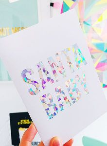 Glitter is the new black kerstkaart Studio Stationery 4