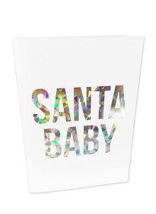 Santa baby kerstkaart Studio Stationery 1