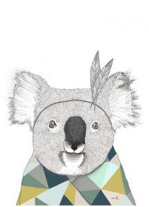 A5 of A6 kaart Koala, Minimel 2