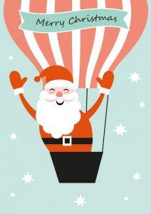 Kerstkaart kerstman Sparkling Paper 2