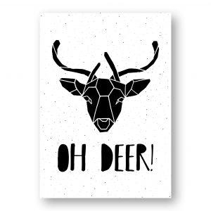 A4 Kerstposter oh deer, MOODZ Design