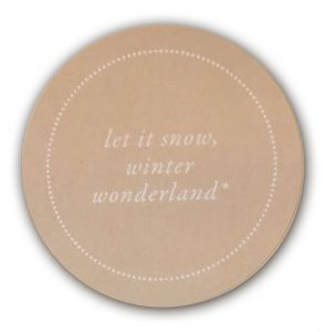 Let it snow winterwonderland sticker