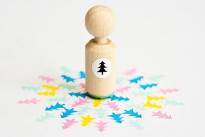 Ministempel kerstboom, Miss Honeybird 1
