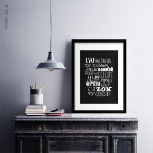 A3 Poster laat alles dansen in je dromen, Paperfuel 2