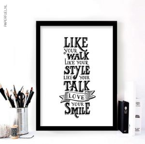 A3 poster Love your smile Paperfuel 2