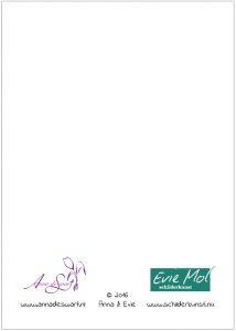 Kunst kaart chocola, Anna & Evie 2