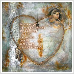 Kunst kaart hart, Anna & Evie 1