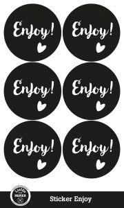 Sticker Enjoy, Liefde voor PAPIER 2