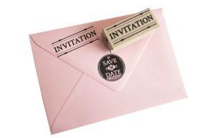 Stempel invitation, Miss Honeybird 3