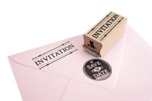 Stempel invitation, Miss Honeybird 2