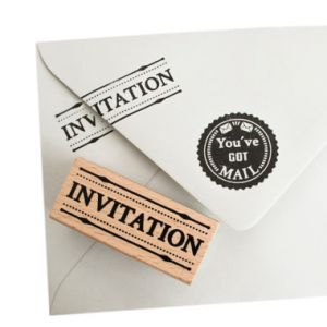 Stempel invitation, Miss Honeybird 1