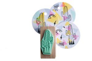 Stempel cactus streepjes, Miss Honeybird 3