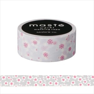Maskingtape grijs met bloemetje Masté 2