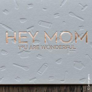 Kaart Hey Mom koper, Letterpers 2