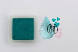 Stempelkussen Versacolor Turquoise 2