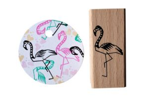 Flamingo stempel medium, Miss Honeybird 2