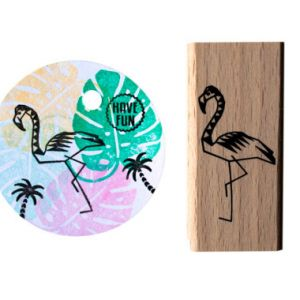 Flamingo stempel medium, Miss Honeybird 1