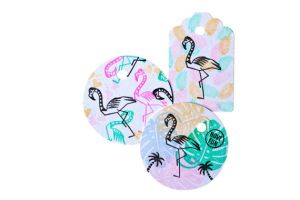 Flamingo stempel medium, Miss Honeybird 4