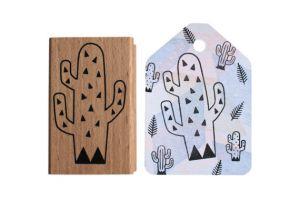 Cactus stempel driehoek (groot), Miss Honeybird 4