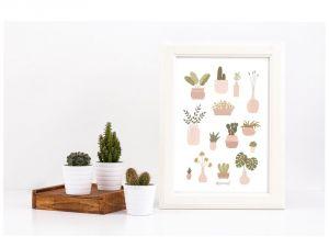 Planten poster A4, Minimel 3