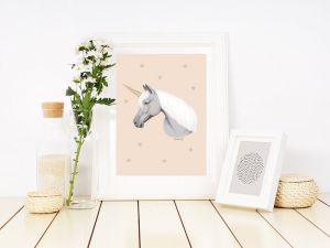 A4 Poster, eenhoorn of unicorn, Minimel 3
