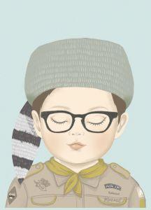 A4 poster scout Sam, Minimel 2