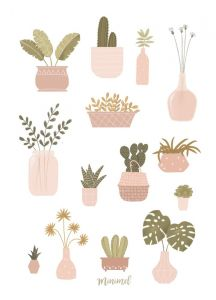 A3 poster planten/botanical, Minimel 2