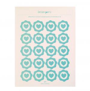 Sticker mint hart Letterpers