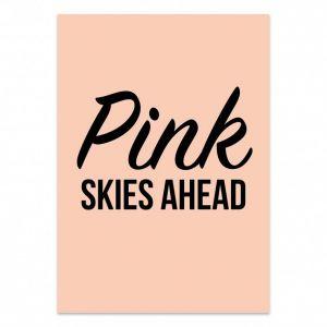 Kaart Pink skies ahead 1