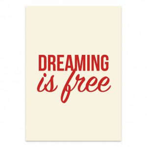 Dreaming is free kaart, Studio Stationery 1