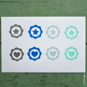 Sticker mint ster Letterpers 3
