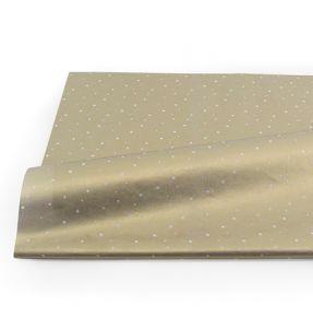 Vloeipapier goud met witte ster