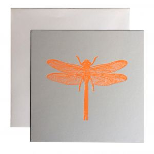 Libelle kaart fluor oranje Letterpers 2